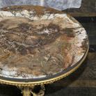 Coffee table with petrified wood