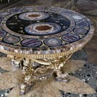 Hardstone carving round table